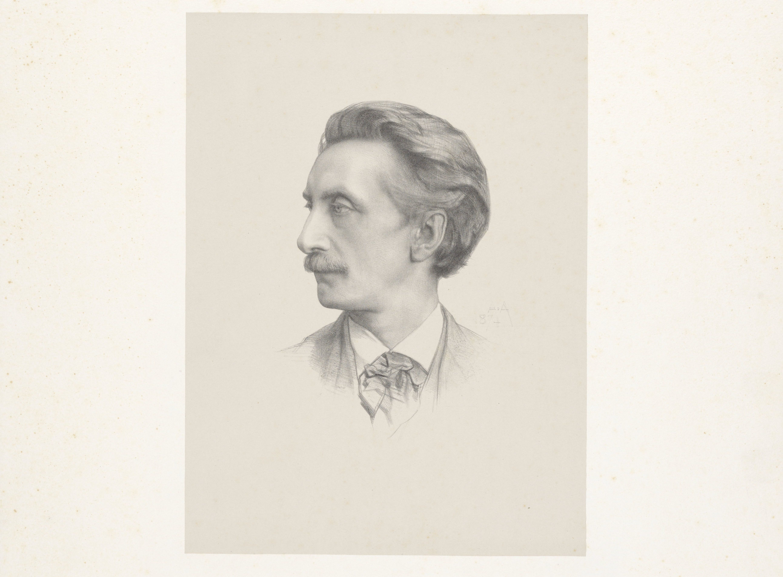 Portret Multatuli door August Allebé 1874