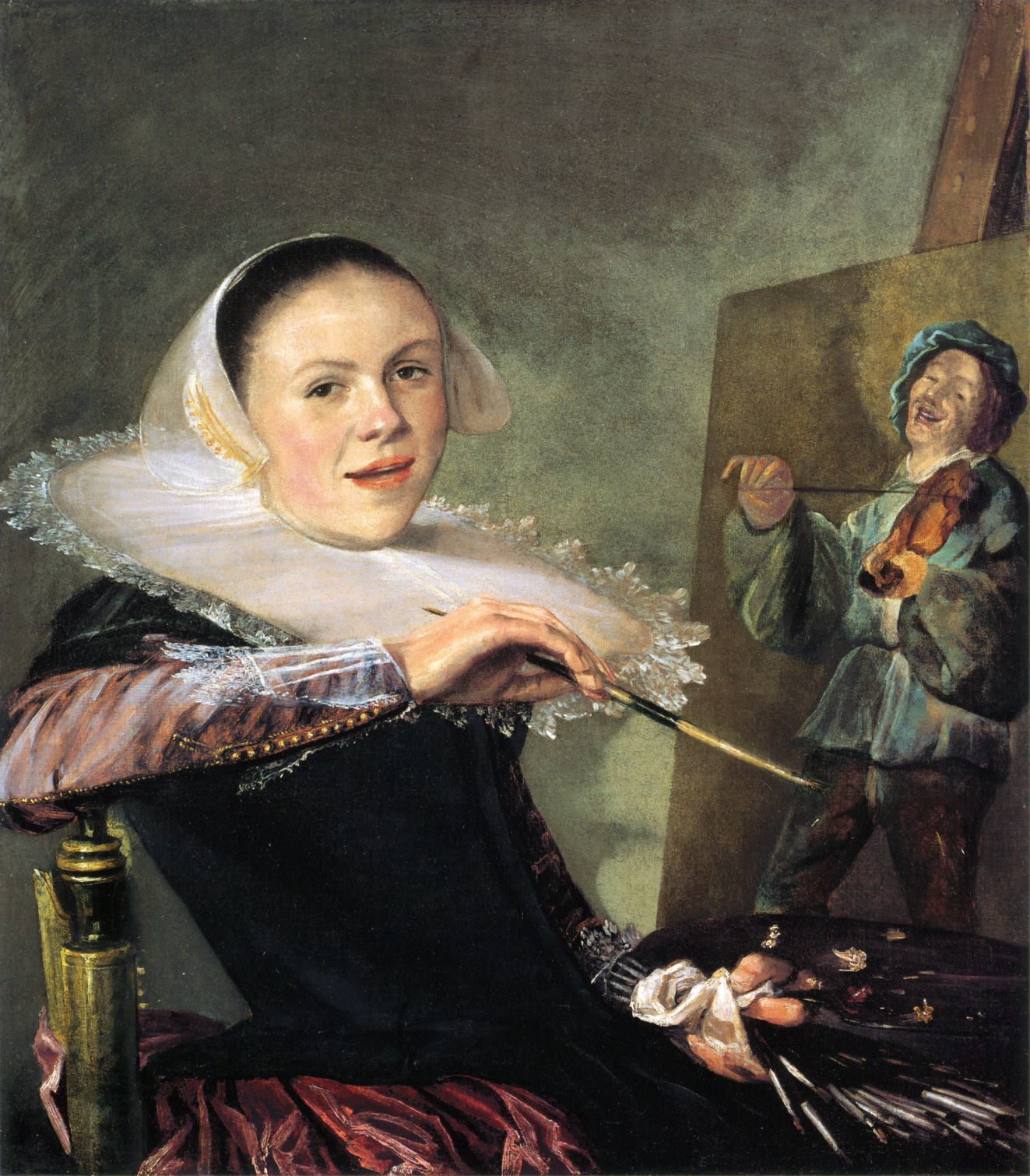 Self portrait by Judith Leyster