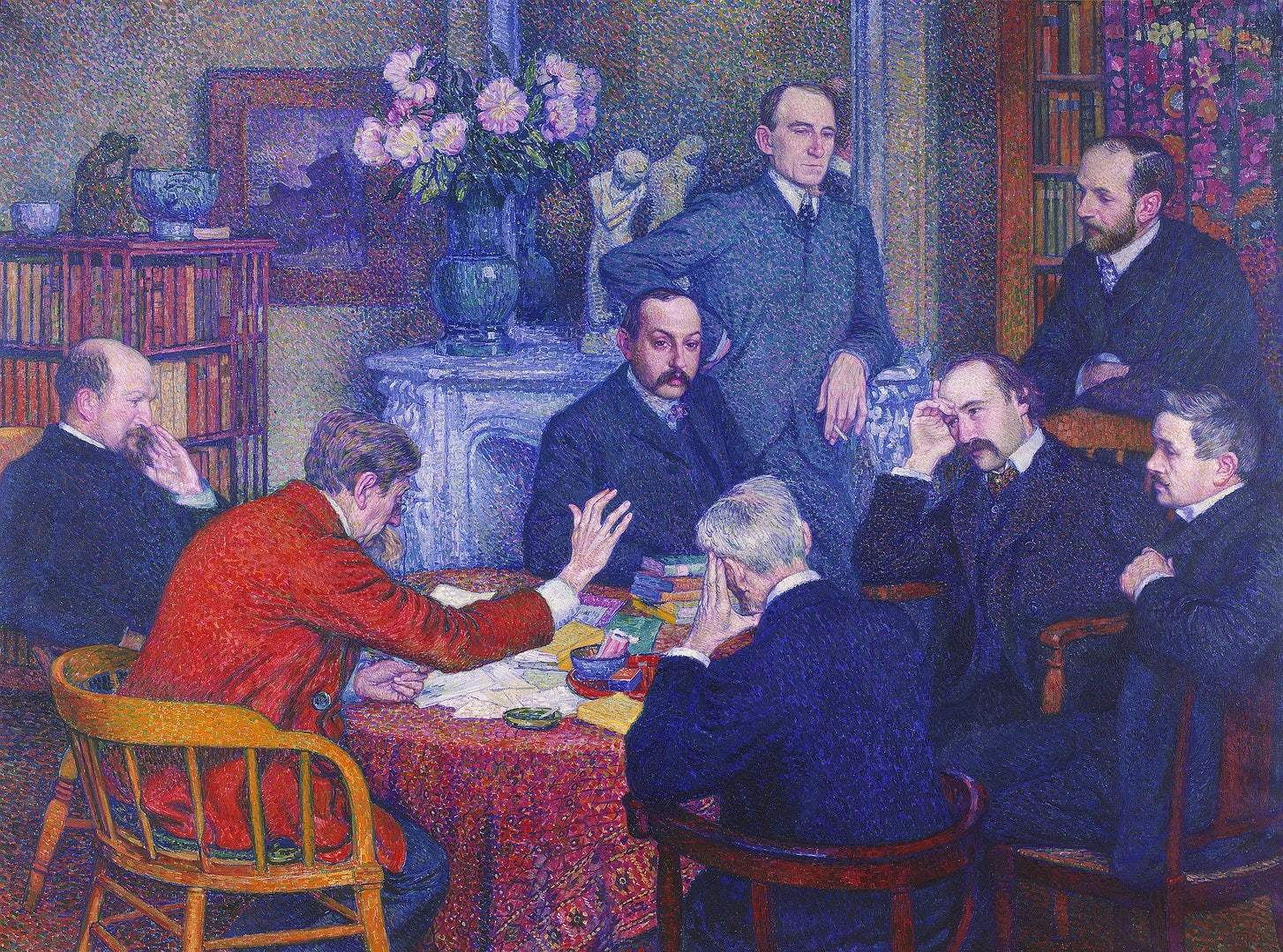 Van Rysselberghe De lezing door Emile Verhaeren 1903