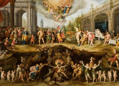 Boston Collection privée Frans II Francken L Allégorie des vices et de la vertu 300 dpi