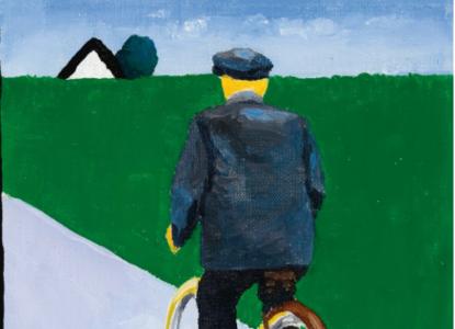 Vader op fietstocht