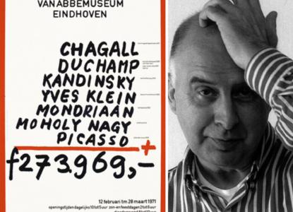 Jan van toorn met affiche