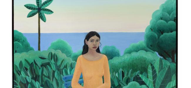 2 Girl in Peach Dress 2019 2020 olie en acrylverf op doek 190 x 150 x 56 cm Courtesy Tim Van Laere Gallery Antwerp