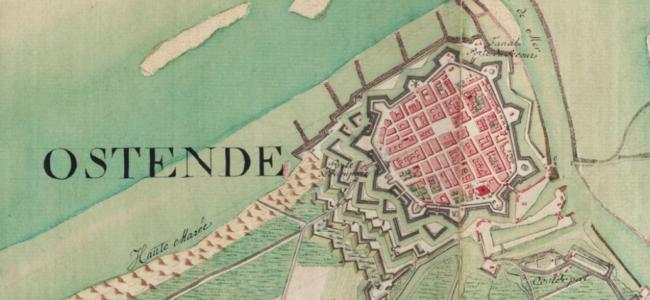 Oostende 1773 Ferrariskaart
