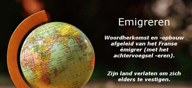 Emigreren definitie